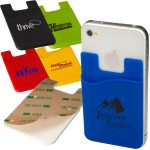 Cell Phone ID Holder - Silicone -3M Backing