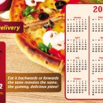 Pizza magnetic calendar